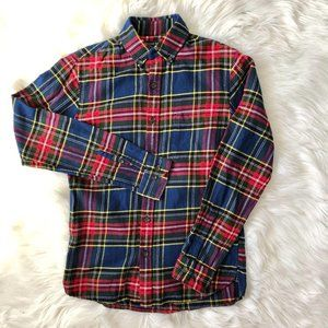 Land's End Long Sleeve Flannel Button Down Shirt S